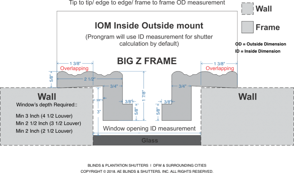 Frames Specs ID vs OD BZ Frame