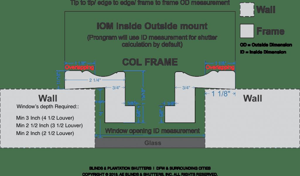 Frames Specs ID vs OD COL frame