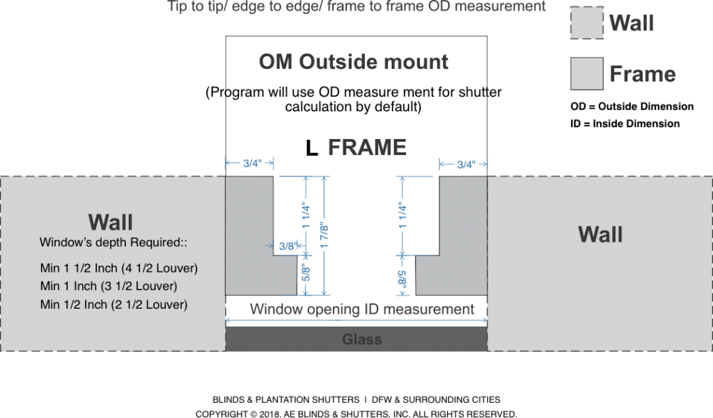 Frames Specs ID vs OD L Frame